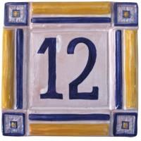 Placa rústica números