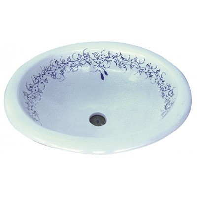 Lavabo ovalado grande azulejos for Accesorios lavabo
